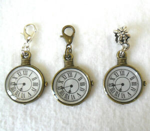Bronze-pocket-watch-charm-choice-clip-or-bail-type