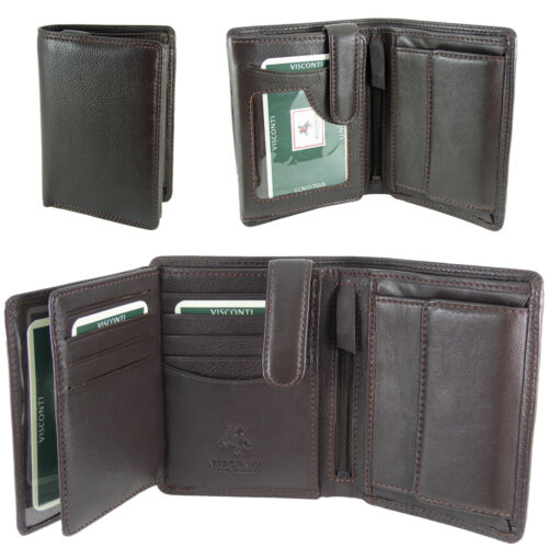 Men/'s Real Leather Visconti RFID Organiser Wallet Boxed in 3 colours HT11