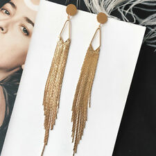 33b4784d2 Fashion Women Long Tassel Earrings Long Chain Drop Dangle Earrings Jewelry  Gift