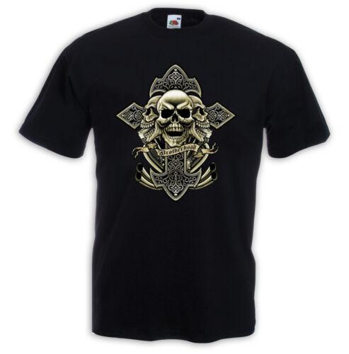 Biker t-shirt Brother Hood motorcycle chopper bike kustom custom