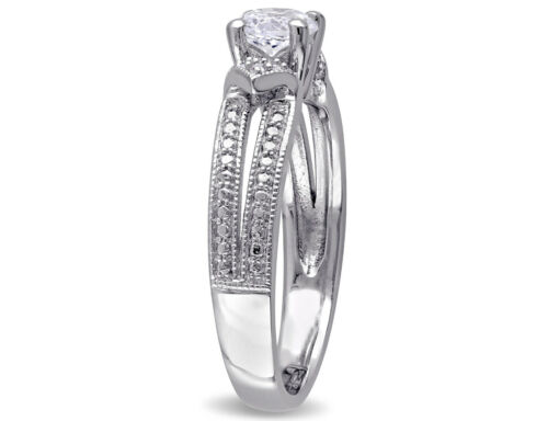 2//3 Carat Created White Sapphire Ring in Sterling Silver ctw