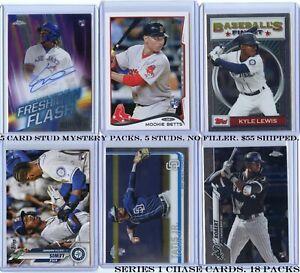 5-CARD-STUD-Baseball-Mystery-Packs-5-Studs-No-Filler-Robert-Tatis-Acuna-Soto