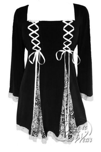 Plus Size Gemini Princess Black Chantilly Lace Gothic Corset Top 1X 2X 3X 4X 5X