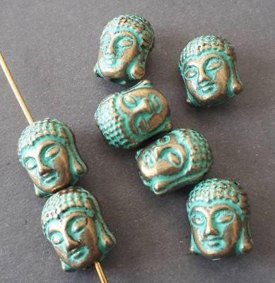6pcs Tibetan silver buddha head spacer bead fit bracelets EF1640