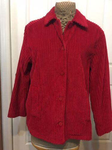 Territory Ahead Red Cordoroy Jacket Lg Flannel Lin