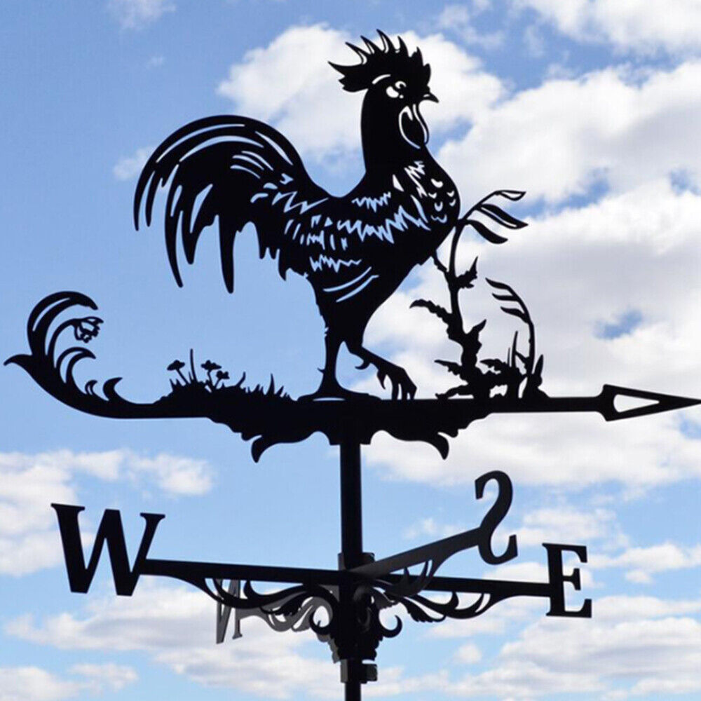 1 pcs Stainless Steel Rooster Weather vane Wind Vane Direction Indicator