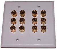 Speaker Wall Plate 12 Post For 6 Speakers High Quality
