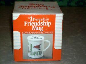 1-Dad-White-Porcelain-Friendship-Mug-amp-Lid-Coaster-With-Mallard-Duck-New-NIB