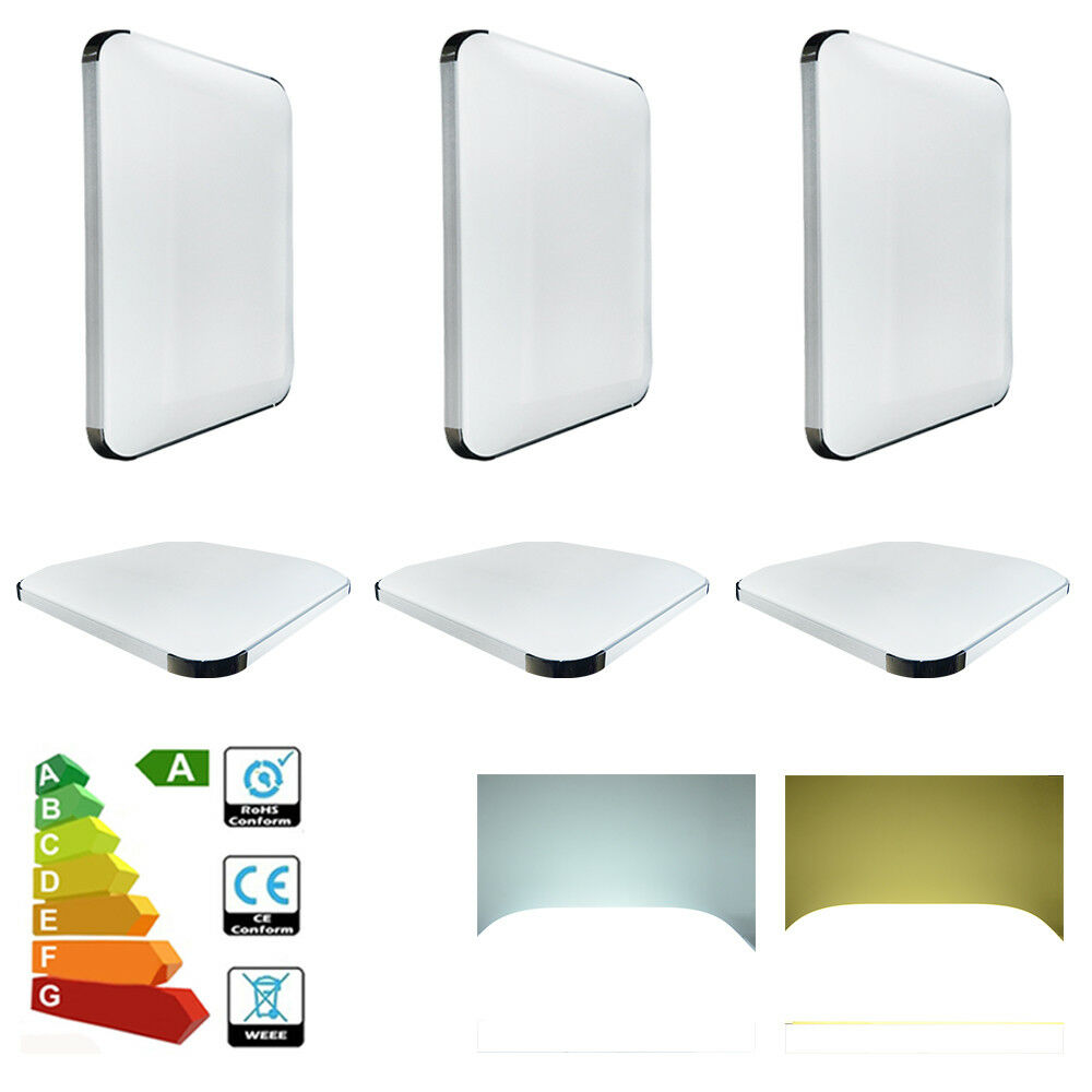 5x Modern 48W LED Ceiling Panel Down Light Weiß Square For Living Room Bathroom