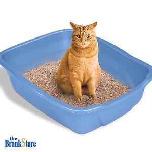 Large Cat Litter Box Big Huge Kitty Pan Pet Toilet Clean