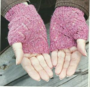 Knitting Pattern for ladies 4 ply lace mittens | eBay
