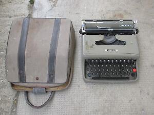 Machine De Ecrire Olivetti Lettre 22 Avec Mallette Vintage