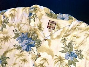 Tommy-Bahama-button-down-xl-short-sleeve-shirt-floral-Hawaiian