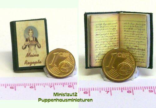 Puppenstube Meine Rezepte Puppenhaus M 1:12 1025# Nostalgie Backbuch