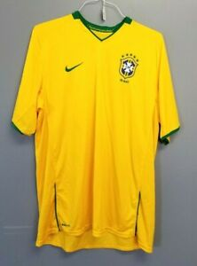 Men-039-s-NIKE-Dri-Fit-Shirt-Jersey-BRAZIL-CBF-Short-Sleeve-FOOTBALL-SOCCER-XL