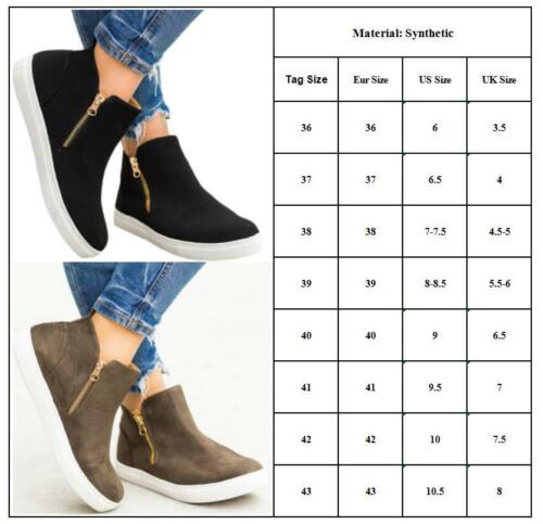 Women Slip On Flats Loafers Pumps Casual Plimsolls Trainers Sneakers Boots Shoes