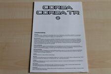 85694) Opel Corsa A + TR - technische Daten - Prospekt 02/1983