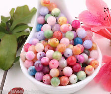 50 Pcs Natural Gemstone Round Spacer Loose Beads Charm Finding Craft 6MM