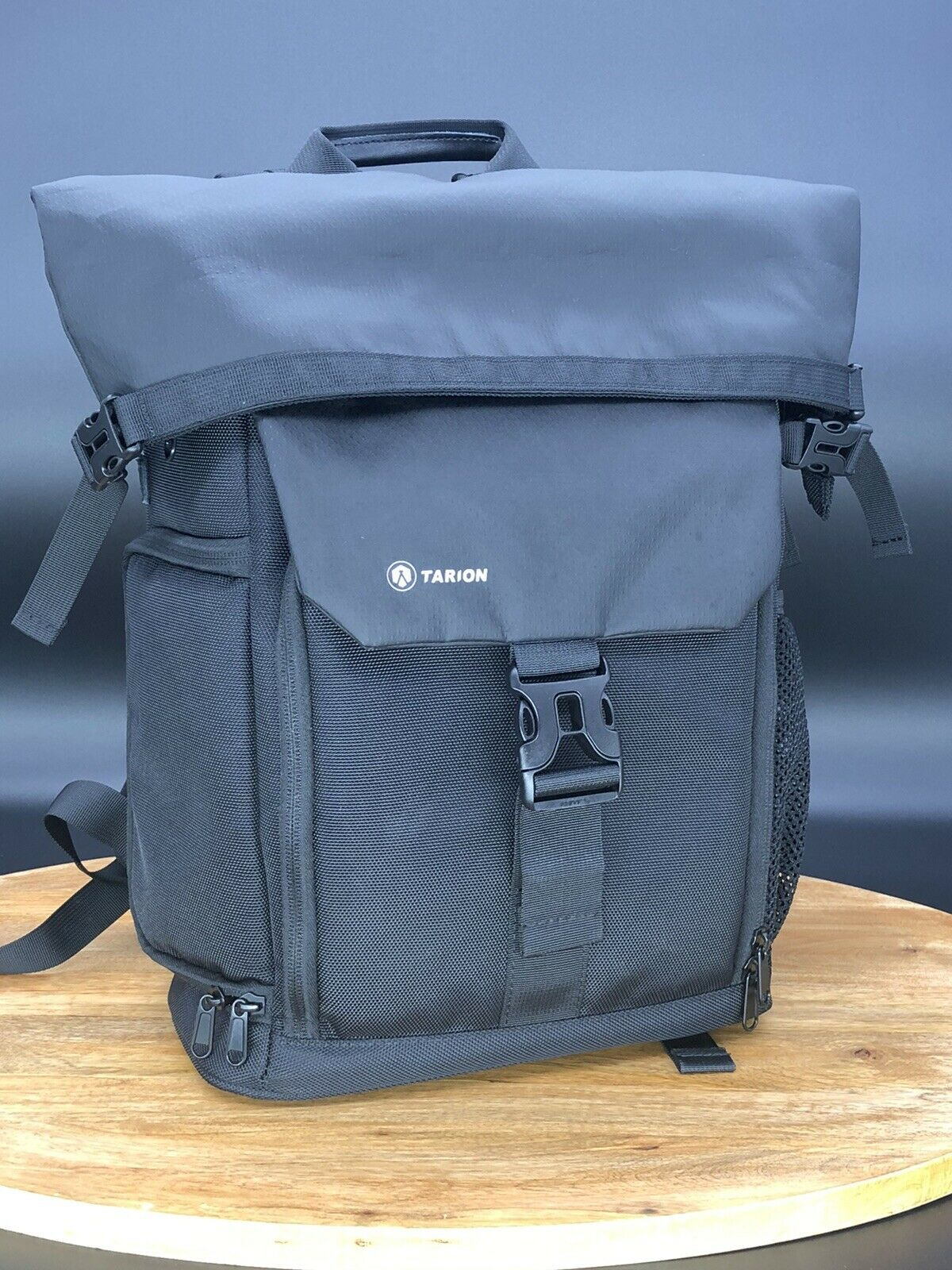 TARION Camera Backpack Rolltop Photography with M, Sp-01 Black