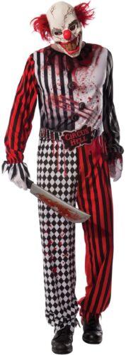 Hommes Adulte Tueur Mort Clown Masque Film Halloween Déguisement Costume Tenue