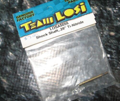 "TEAM LOSI RC .28/"" GOLD SHOCK SHAFT SEDAN 1 5058"