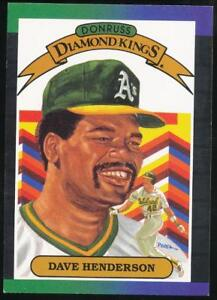 1989-Donruss-Diamond-Kings-20-Dave-Henderson-Oakland-Athletics