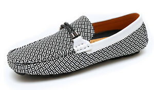 Mocassini-uomo-casual-bianco-nero-primavera-estate-scarpe-man-039-s-shoes-eleganti