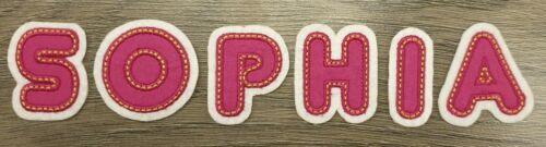 Buchstaben Zahlen # Name Aufbügler Aufnäher Bügel Applikation Patch Flicken Pink