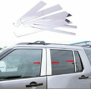 CHROME-Door-Window-Pillar-Post-Cover-Trim-for-Land-Rover-Discovery-3-4-2004-2016