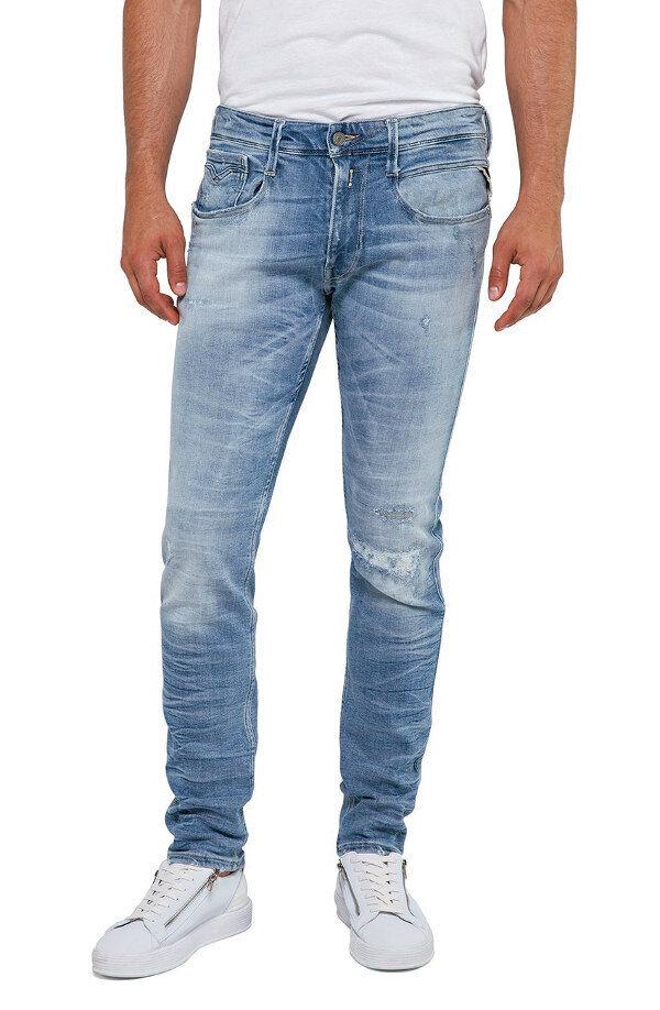 REPLAY Jeans ANBASS M914Y Skinny Skinny Skinny Jeans  20 Years aged  Destroyed & Repairot NEU | Spielen Sie Leidenschaft, spielen Sie die Ernte, spielen Sie die Welt  | Verbraucher zuerst  3d360e