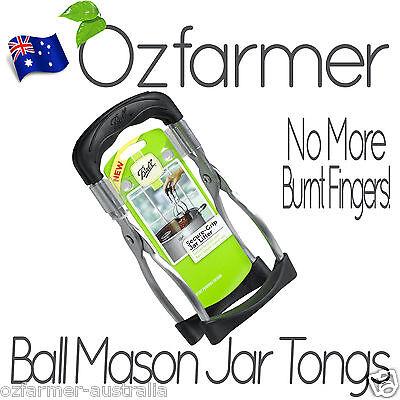 1 x Genuine Ball Mason Premium Bottle Canning Preserving Tongs Jar Bottle Lifter