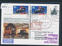 66864) LH FF München - Südafrika South Africa 1./2.12.2001, Zudruck BPK + Pferde