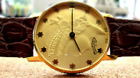 Vintage Men's DUFONTE by Lucien Piccard Liberty coin watch, mechanical, original
