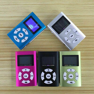 Metall Clip MP3 Stereo schwarz Mini Player FM Radio LCD Display Kartenleser