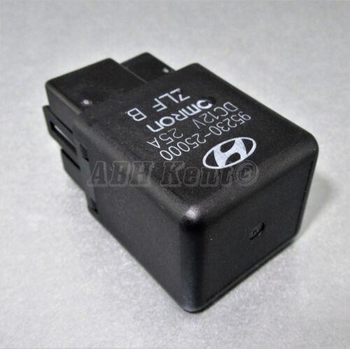 696-Hyundai (90-05) 4-Pin Multi-Use Black Relay 95230-25000 HMC OMRON DC12V 25A