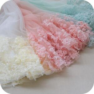 3D-Rose-Flower-Embroidery-Mesh-Fabric-Lace-Trim-Wedding-Dress-DIY-Craft