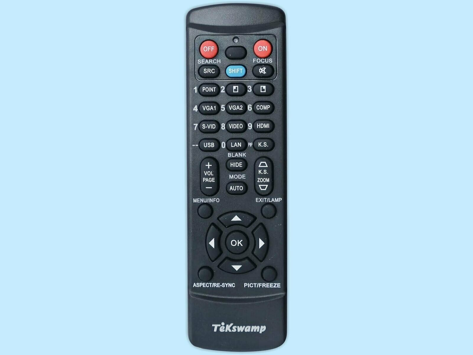 Replacement Remote Control JVC RM-MH18G by Tekswamp
