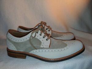 New Men Johnston & Murphy Tan Lace Suede Wing Oxford Spectator Shoe Size 12