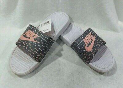 Nike Benassi JDI Barely Rose/B-Coral Print Women's Slides Sandals-Size  11/12 NWB | eBay