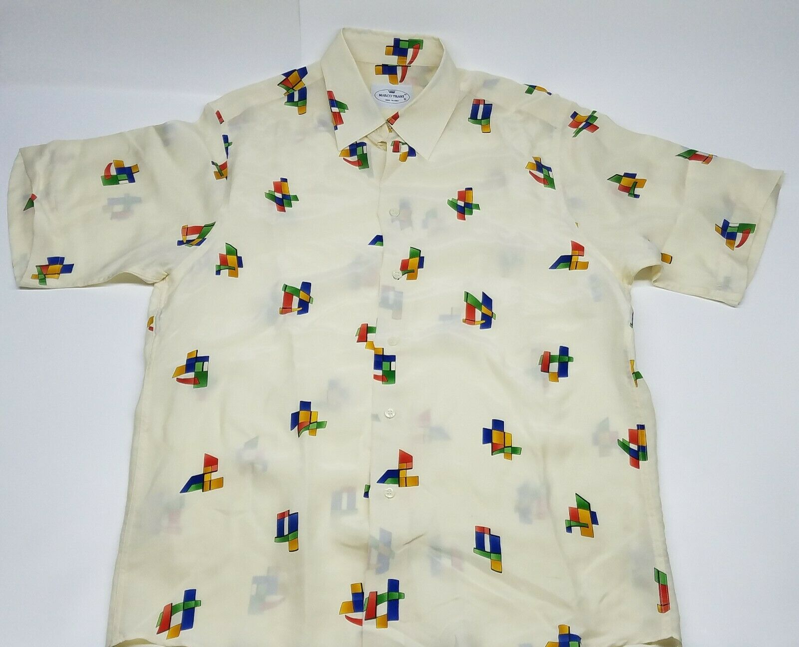 Marco Trani Made in  Button down shirt size Medium 100% cupro