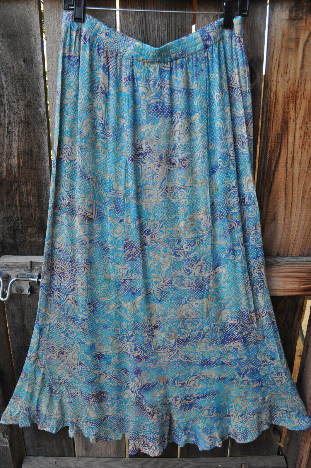ART TO WEAR MISSION CANYON FLIRTY 5 SKIRT IN ALL NEW AZURE, ONE SIZE