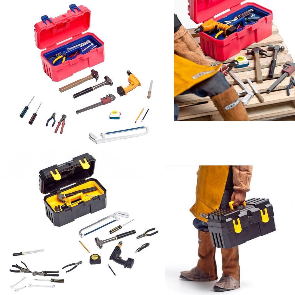 22pcs kit 1 6 Scale Repair Fixing Tools  with voiturery Box Accessory for 12'' Figure  au prix le plus bas