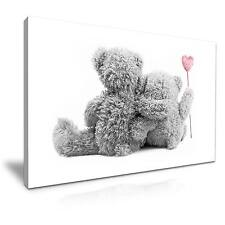 Large Teddy Bear Kids Canvas Wall Art Picture 76x50cm Special Offer 36