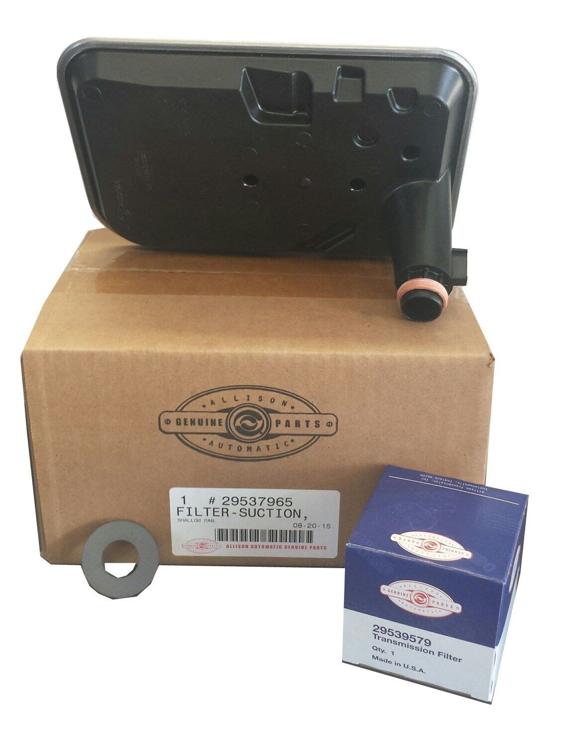 Genuine Allison Filter Kit 29539579 AND External Spin On Filter Internal Shallow Filter 29537965
