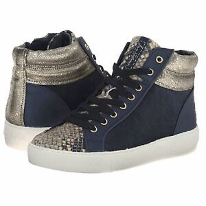 3762e7a028ce9 SAM EDELMAN Britt High Top Sneakers sz 8.5 (fits 9) Navy Blue ...