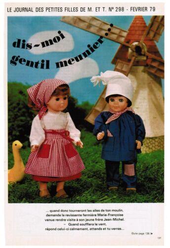 Jean Michel # page poupées MODES ET TRAVAUX 02//1979 Marie Françoise