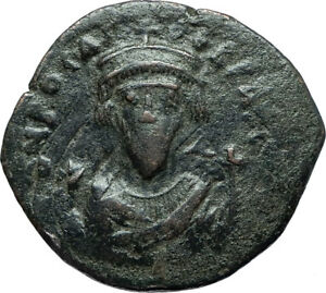 PHOCAS-602AD-Constantinople-Follis-Authentic-Ancient-Byzantine-Coin-i66064