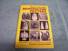 HOW TO IDENTIFY BENNINGTON POTTERY, 1964, RICHARD CARTER BARRET