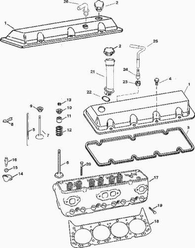 Mercruiser Marine head gasket 502 8.2 Mag 27-879150139