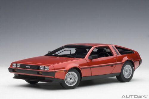 1981 Neu - Metallic Red Autoart 79918-1//18 Delorean Dmc-12